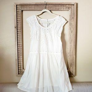 American Eagle White Eyelet Babydoll Dress